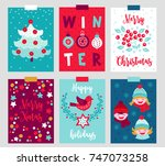 set of six christmas greeting...