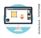 design concept for graphic and ... | Shutterstock .eps vector #747073408