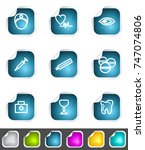 modern set of design elements.... | Shutterstock . vector #747074806