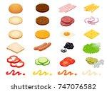set vector constructor... | Shutterstock .eps vector #747076582
