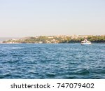 military navy ships in a sea... | Shutterstock . vector #747079402