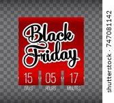 abstract vector black friday... | Shutterstock .eps vector #747081142