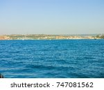 military navy ships in a sea... | Shutterstock . vector #747081562
