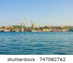 military navy ships in a sea... | Shutterstock . vector #747082762