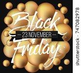 abstract vector black friday... | Shutterstock .eps vector #747082978