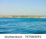 military navy ships in a sea... | Shutterstock . vector #747083092
