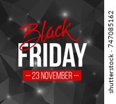 abstract vector black friday...   Shutterstock .eps vector #747085162