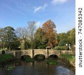 Small photo of bridge view of bibury uk romantic place natural real life
