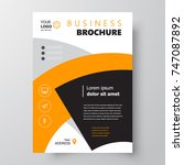 flyer brochure design  business ... | Shutterstock .eps vector #747087892
