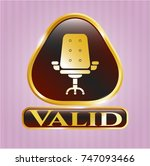 gold emblem or badge with... | Shutterstock .eps vector #747093466