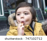 little cute toddler boy with...   Shutterstock . vector #747102712