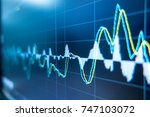 stock exchange market graph... | Shutterstock . vector #747103072