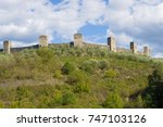 towers of medieval fortress of... | Shutterstock . vector #747103126