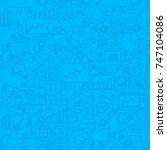 analytics line tile pattern.... | Shutterstock .eps vector #747104086