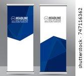 roll up business brochure flyer ... | Shutterstock .eps vector #747116362