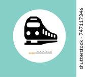 train icon.train.vector... | Shutterstock .eps vector #747117346