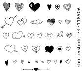 heart doodles | Shutterstock .eps vector #747118906
