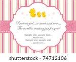 new baby girl   Shutterstock .eps vector #74712106