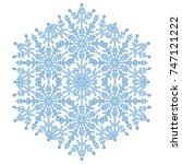 round vector snowflake.... | Shutterstock .eps vector #747121222