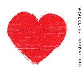 grunge heart design.abstract... | Shutterstock .eps vector #747121606