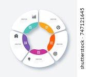 infographics template 5 options ... | Shutterstock .eps vector #747121645