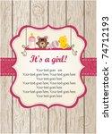 baby girl arrival | Shutterstock .eps vector #74712193