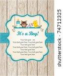 baby boy invitation | Shutterstock .eps vector #74712325