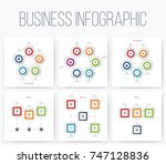 set with infographics. data and ... | Shutterstock .eps vector #747128836