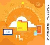 cloud computing concept... | Shutterstock .eps vector #747132472