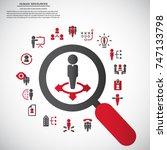 human resource   conceptual...   Shutterstock .eps vector #747133798