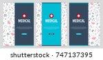 medical brochure design... | Shutterstock .eps vector #747137395