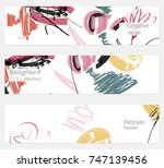 hand drawn creative universal... | Shutterstock .eps vector #747139456