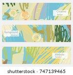 hand drawn creative universal... | Shutterstock .eps vector #747139465