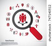 human resource   conceptual... | Shutterstock .eps vector #747140512