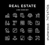 set line icons of real estate | Shutterstock .eps vector #747147436