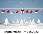 merry christmas and happy new...   Shutterstock .eps vector #747159022