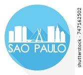 sao paulo skyline button icon... | Shutterstock .eps vector #747162502