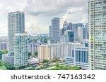 public residential condominium... | Shutterstock . vector #747163342