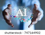 Small photo of AI(Artificial Intelligence) concept. deep learning.