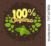 organic product label logo... | Shutterstock .eps vector #747167806