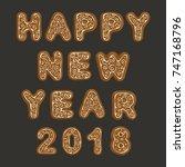 the inscription from ginger... | Shutterstock .eps vector #747168796