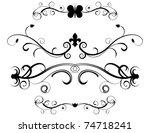 set of decorative page dividers | Shutterstock .eps vector #74718241