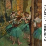 Dancers  Pink And Green  By...
