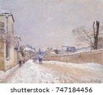 rue eugene moussoir at moret ... | Shutterstock . vector #747184456