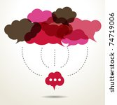 assembled cloud speech bubbles | Shutterstock .eps vector #74719006