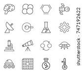 thin line icon set   brain ... | Shutterstock .eps vector #747192622
