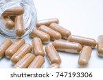 supplement vitamin nutrition... | Shutterstock . vector #747193306