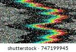 glitch background. computer... | Shutterstock .eps vector #747199945