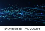 abstract star dust particle... | Shutterstock . vector #747200395