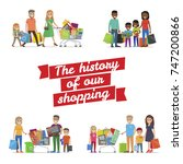 the history of our family... | Shutterstock . vector #747200866